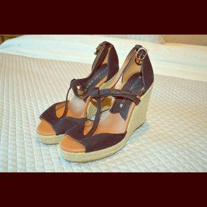 Lucky Brand T Strap Espadrilles Black Size 7
